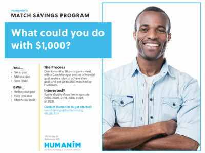 Humanim's Match Savings Program