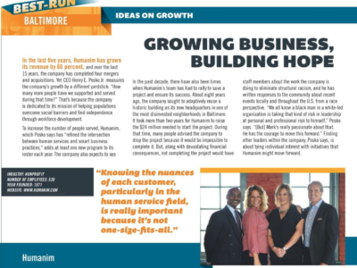 "Humanim Leadership Featured in Smart CEO Magazine ""Best-Run Baltimore"""