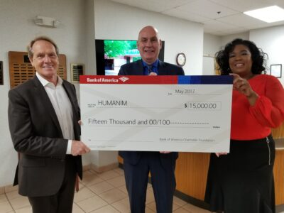 Humanim Awarded $15,000 Grant by Bank of America