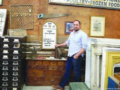"Max Pollock of Brick+Board featured in BBJ: ""How I recover and recycle Baltimore's history"""