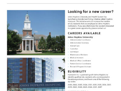 Recruiting Baltimore City Job Seekers for Careers at Johns Hopkins