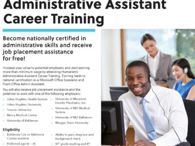 Free Administrative Assistant Career Training at Humanim