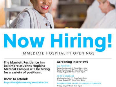 Now Hiring: Immediate Hospitality Openings at Marriott Residence Inn