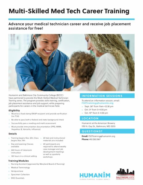 Multi-Skilled Medical Technician Career Training – Humanim