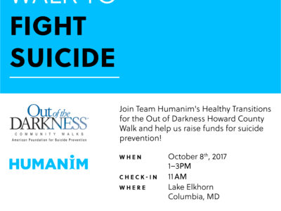 Out of Darkness Walk to Prevent Suicide