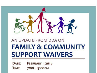 Event: Update from DDA on Family and Community Support Waivers