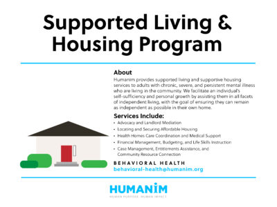 Humanim Program Spotlight: Supported Living & Housing