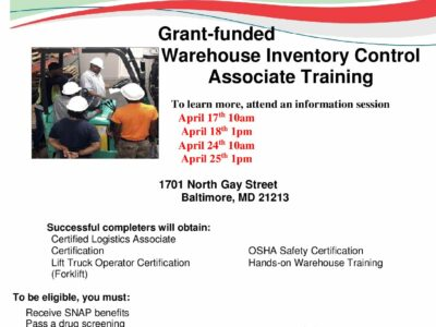 Free Warehouse Inventory Associate Training