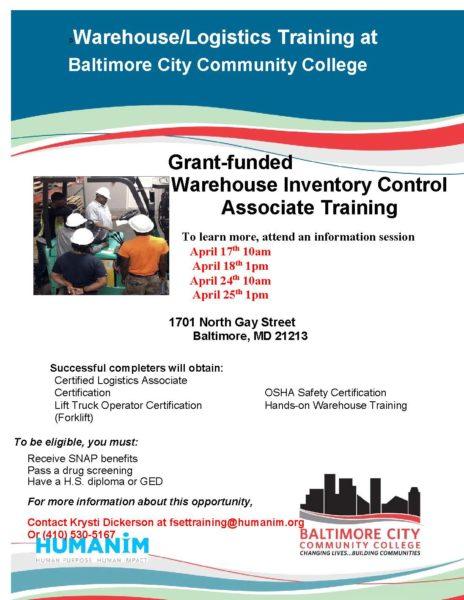 Free Warehouse Inventory Associate Training – Humanim