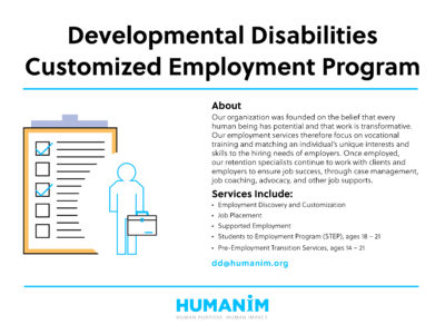 Program Spotlight: Customized Employment