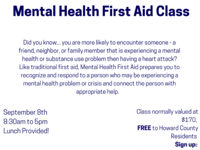 FREE Mental Health First Aid Training