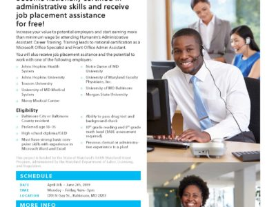 Free Administrative Career Training Spring 2019