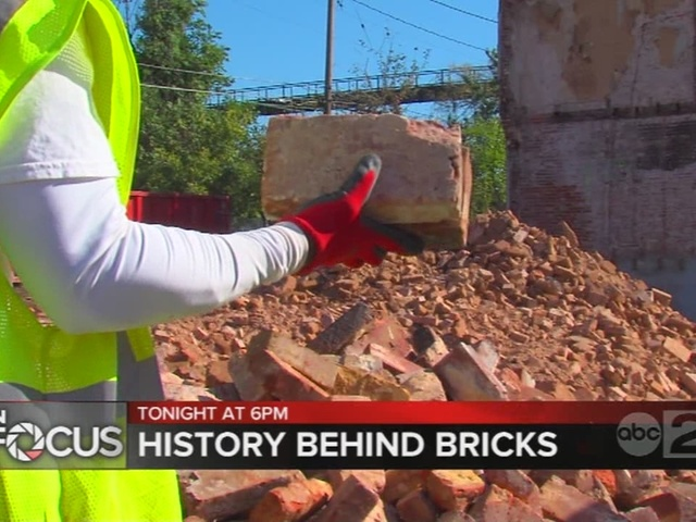 Relics of past generations recovered from Baltimore brick project