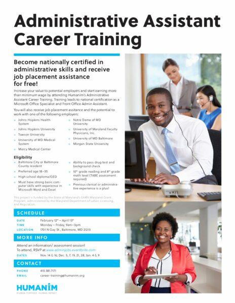 Free Administrative Assistant Career Training – Humanim