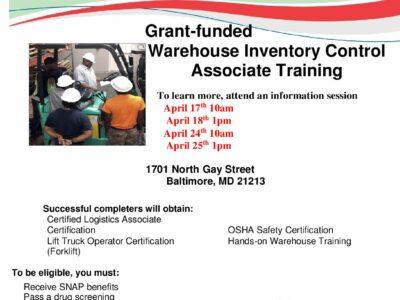 Free Warehouse Inventory Associate Training