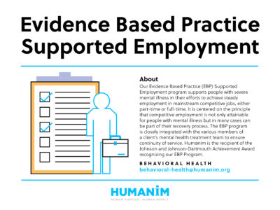 Program Spotlight: Evidence Based Supported Employment