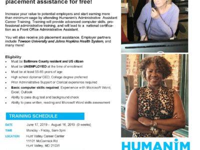 Free 55+ Administrative Career Training Summer 2019