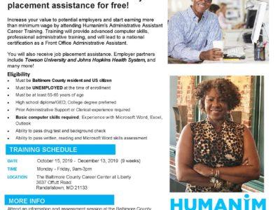 Free 55+ Administrative Career Training Program Fall 2019
