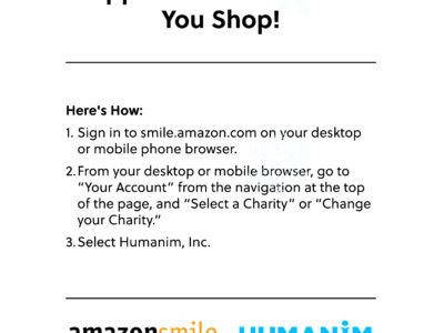Support Humanim While You Shop on Prime Day 2019