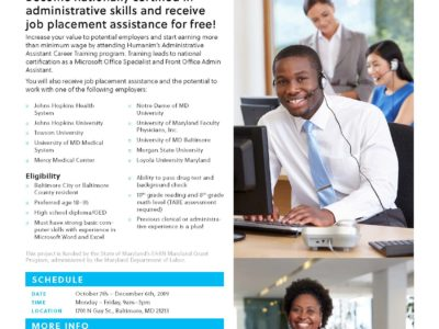 Free Administrative Assistant Career Training Program Fall 2019