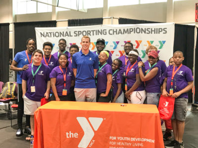 Start on Success Students Volunteer at YMCA National Swim Meet