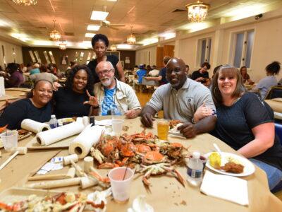 Humanim Hosts Employee Crab Feast