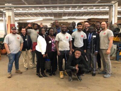 African Delegation Visits Brick + Board and Details Deconstruction