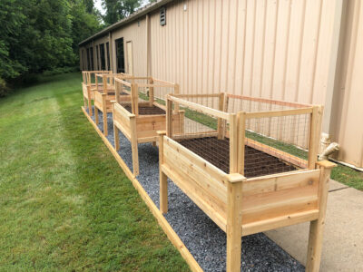Building Raised Garden Beds for Developmental Disability Services