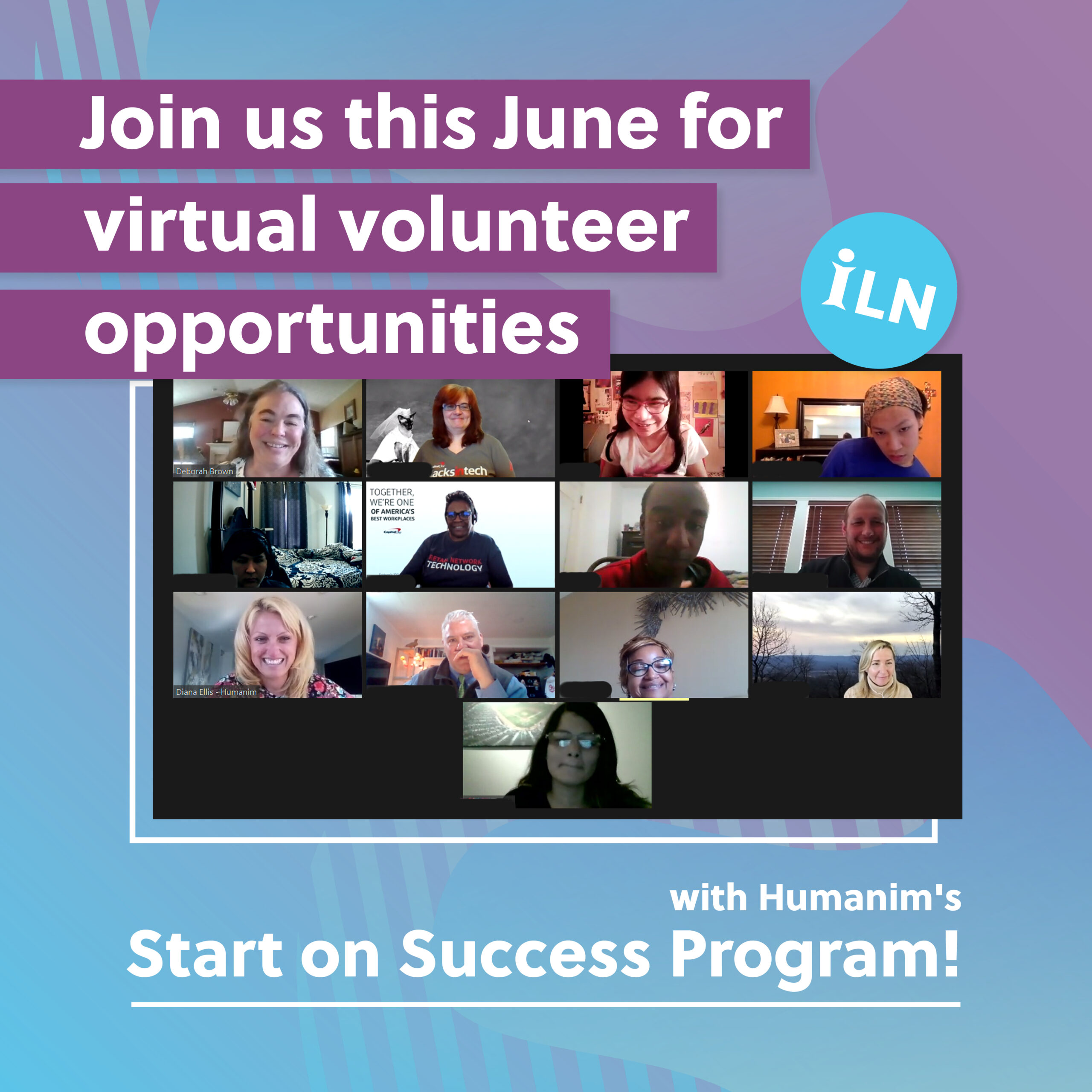 Virtual Volunteer Opportunities with Humanim's Start on Success Program
