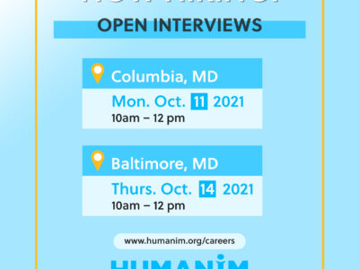 Join Us for Open Interviews at Humanim this October